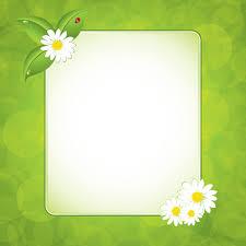 Green Floral Frame Vector Set 01 Free Download