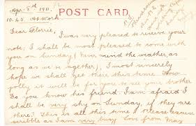 ramblings of a deltiologist ese postcards people the use of the first postcard to confirm attendance to a social function written at work and the second to request some forgotten belongings shows not