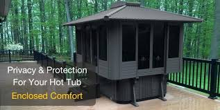 hot tub shelters gazebo panel porch trees home decorations