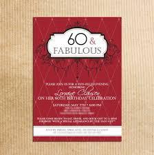 Corporate Invitation Card Format Fabulous Celebration 60th Birthday Party Invitations Card