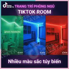 Đèn Led TikTok 5m Mix màu DIY Điều khiển 44 nút RGB Đèn trang trí phòng ngủ  quay TikTok - Đèn trang trí Nhãn hàng No brand