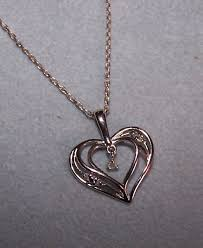 details about kay jewelers kays double heart diamond sterling silver pendant necklace