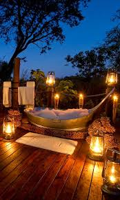 Taking a bath outside sounds dreamy, but it isn't exactly easy. For