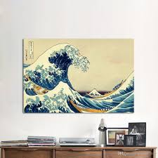 1 шт холст искусства великая волна стены фотографии для гостиной кацусика