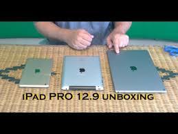 ipad size comparison apple ipad pro 12 9 unboxing size comparisons youtube