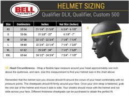 Bell 500 Helmet Size Chart Bell Street Qualifier Helmet Blackout