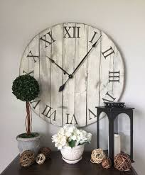 30 handmade wooden clock assembled from repurposed pallet boards the color of paint used on