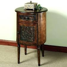 tall end tables with storage funky accent narrow round wood table single decoration for wedding cake
