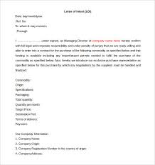 Free Intent Letter Templates 18 Free Word Pdf Documents Download