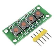 FreeStyle <b>3pcs</b> 1x4 4 Keys Button 5 Pin Keypad Keyboard Module ...