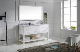 bathroom sink without vanity. sink bathroom vanity set, white. virtu usa md-2260-wmro-wh-010 transitional 60-inch double without