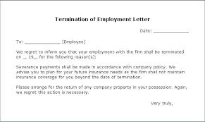 Job Performance Termination Letter Company Employee South Africa