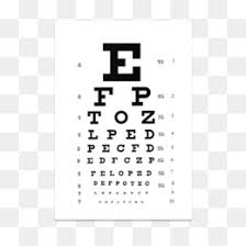 Eye Exam Snellen Chart Snellen Chart Png And Snellen Chart Transparent Clipart Free