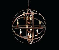 bronze globe chandelier light antique orb