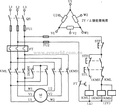 three phase motor dual sd 2y connection control inside electric new ac starter wiring diagram