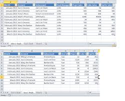 excel 2010 bine two tables in pivot table