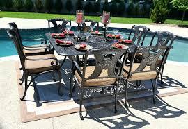 patio dining set for 8 amazing 8 person luxury cast aluminum patio furniture 8 person dining