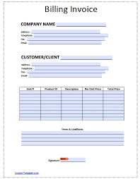 Billing Form Template Free Billing Invoice Template Excel PDF Word Doc 1