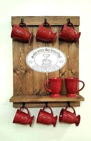 coffee rack wall coffee cup holder wall hanging coffee mug rack coffee mug rack wall mounted
