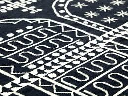 rugs black and white rug kilim alpha blue