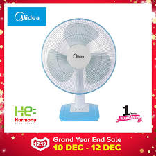 best er midea 12 table fan mf 12ft17nb blue