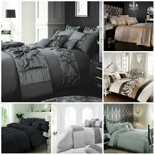 details about luxury duvet cover set double super king size bedding black silver gold grey etc