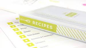 Recipe Binder Templates Diy Recipe Book With Free Printable Recipe Binder Kit