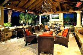 patio covered patio with fireplace porch outdoor ideas cover tropical st