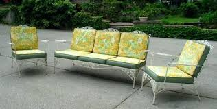 retro metal patio chairs. Retro Porch Furniture Long Sofa Green Color From Metal Amazing Ideas Vintage Patio With Chairs