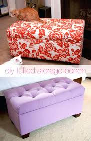 diy upholstered storage bench glitter and goat cheese tufted storage bench tutorial diy upholstered bench seat with storage