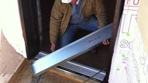Waterproofing the door threshold - YouTube