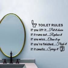 toilet rules bathroom toilet wall sticker vinyl art decals diy home decoration in wall stickers from home garden on aliexpress alibaba group on toilet rules wall art with toilet rules bathroom toilet wall sticker vinyl art decals diy home