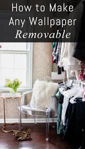 How to Make Wallpaper Removable | Wallpaper, Walls and Family garden