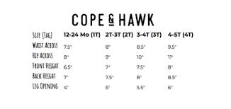 Sizing Chart Cope Hawk