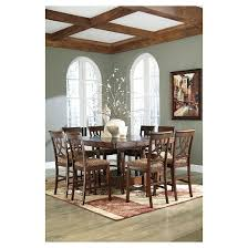 extendable dining room table by signature design by ashley. leahlyn dining room counter extendable table wood/medium brown - signature design by ashley d
