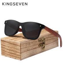KINGSEVEN 2019 Handmade Polarized Walnut <b>Wood Sunglasses</b> ...