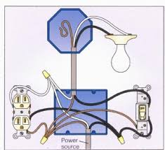 light with outlet 2 way switch wiring diagram kitchen pinterest Double Gang Box Wiring light with outlet 2 way switch wiring diagram double gang box wiring