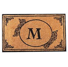 Image Pottery Barn Envelor Home And Garden Handwoven Customized Monogram Extra Thick Doormat Outdoor Rugs Durable Coir Amazoncom Amazoncom Envelor Home And Garden Handwoven Customized Monogram