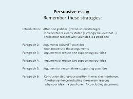 the writing assessment scoring ideas  persuasive essay remember these strategies introduction attention grabber introduction strategy topic sentence