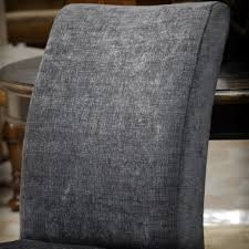 avery dark grey printed fabric dining chairs (set of )  great