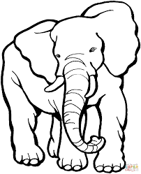 Small Picture Elephants Coloring Pages Free Printable Elephant Coloring Pages
