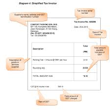 gst tax invoice format e cukai gst simplified tax invoice