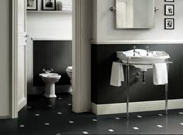 marvelous black and white bathroom combining black tiles and wall with white bathroom furniture black and white bathroom furniture