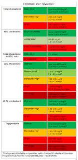 Cholesterol Chart Image Blood Cholesterol Test