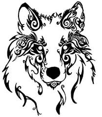 wolf face drawing tribal.  Wolf Wolf Tattoo Tribal  Google Search Inside Wolf Face Drawing Tribal