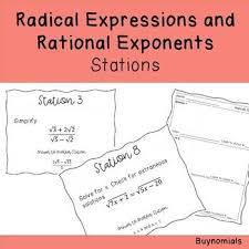 14 stations on radical expressions and