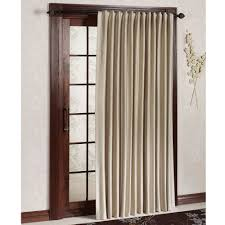 outstanding single sliding cream fabric patio door window treatments for brown wooden glass door frames treatments as well as white wall interior painted