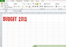 building a home budget how to build a budget spreadsheet teenagers 13 steps