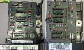 peugeot 206 fuse box large used car part stock peugeot 206 box fuse bsm b5 siemens s118470005k 9643498680 zie 6500q1 6500y3