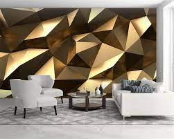 Custom Luxury Golden 3d Wallpaper ...